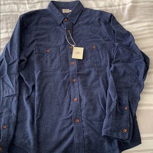 Faherty Brushed Alpine Flannel Shirt Large NWT!